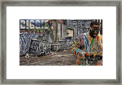 Street Phenomenon Biggie Framed Print