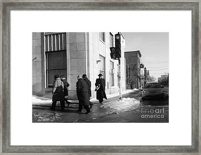 Street Photos Montreal Framed Print