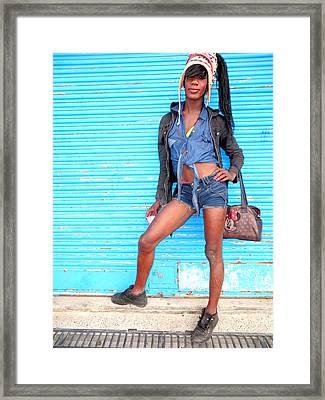 Street Portrait   213 Framed Print by Daniel Gomez