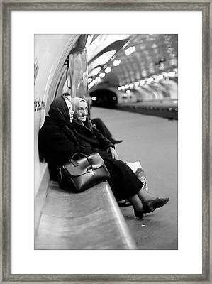 Street Portrait In Paris Framed Print by Daniel Gomez