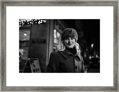 Street Portrait Of A Woman Framed Print by The Man With a Hat