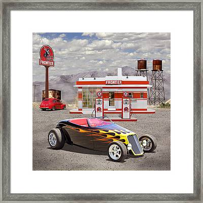 Street Rod At Frontier Station 2 Framed Print