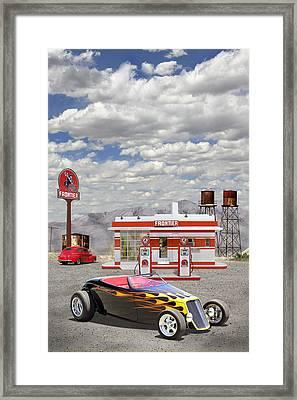 Street Rod At Frontier Station Framed Print