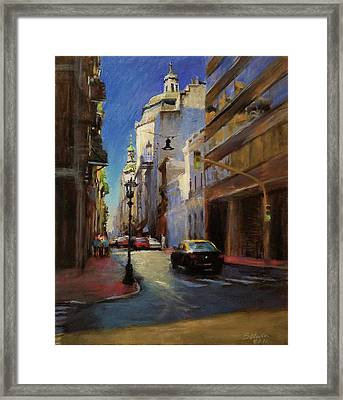 Street Scene In Buenos Aires Framed Print by Peter Salwen
