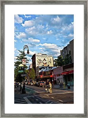 Street Scene In New York Framed Print