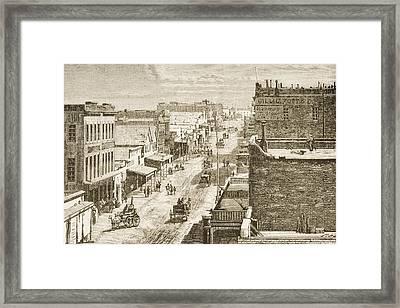 Street Scene In Virginia City, Nevada Framed Print