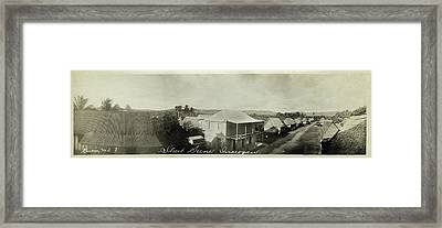 Framed Print featuring the photograph Street Scene Inarajan Guam by eGuam Panoramic Photo
