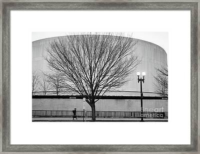 Street Shot At The Hirshorn  Framed Print