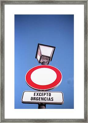 Street Sign Framed Print