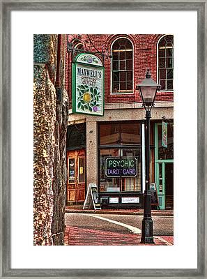 Street Signs Portland Maine Framed Print by Tom Prendergast