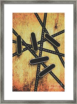 Street Skating Background Framed Print