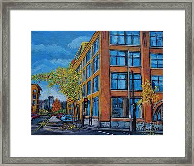 Street Study Montreal Framed Print by Reb Frost