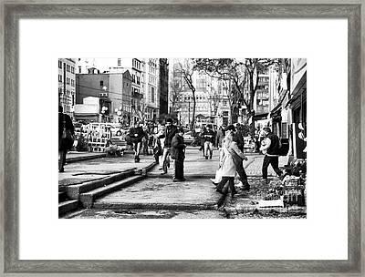 Street Sweeper Framed Print by John Rizzuto