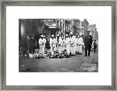 Street Sweepers, 1911 Framed Print by Granger