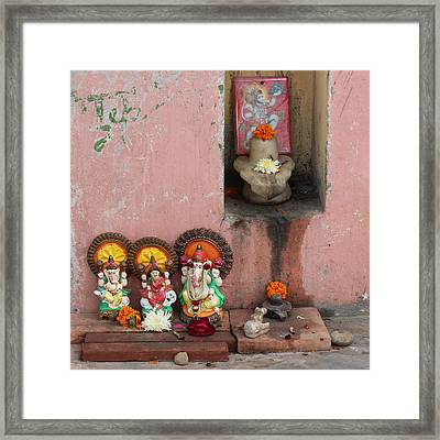 Street Temple, Haridwar Framed Print by Jennifer Mazzucco