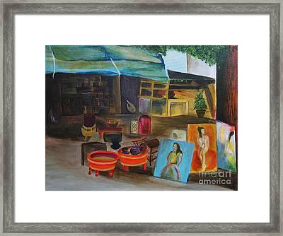Street Vendor Framed Print by Jo Baby