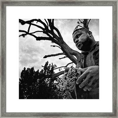 Street Vendor  #man #tree #portrait Framed Print by Rafa Rivas