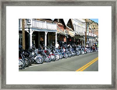 Street Vibrations In Virginia City Nevada Framed Print