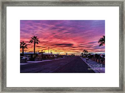 Street View Framed Print