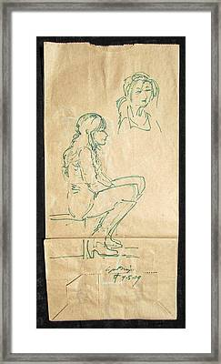 Street Walker Framed Print by Radical Reconstruction Fine Art Featuring Nancy Wood