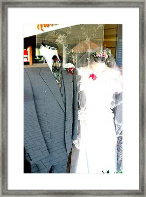 Street Wedding Framed Print by Jez C Self