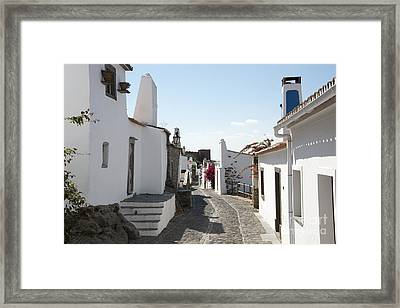 Street With White Houses Monsaraz Framed Print by Compuinfoto