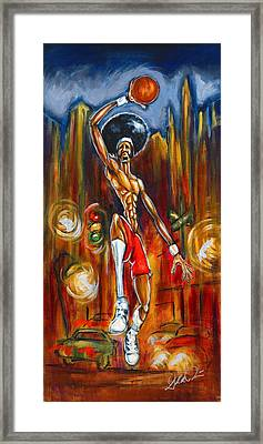 Streetball Framed Print by Daryl Price