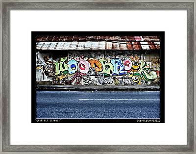 Streeti Graffiti Framed Print by Sarita Rampersad