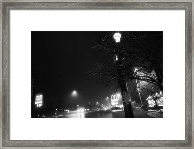 Framed Print featuring the photograph Streetlights by Jeanette O'Toole