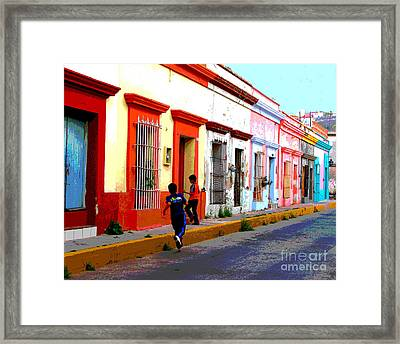 Streetplay By Darian Day Framed Print