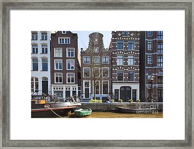 Streets And Channels Of Amsterdam Framed Print by Andre Goncalves