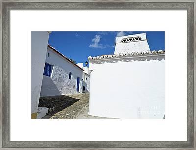 Streets Of A Medieval Castle. Alentejo Framed Print