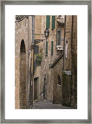 Streets Of Assisi Framed Print by Lynn Andrews