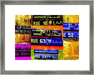 Streets Of Beirut  Framed Print by Funkpix Photo Hunter