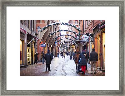 Streets Of Bologna Framed Print by Andre Goncalves