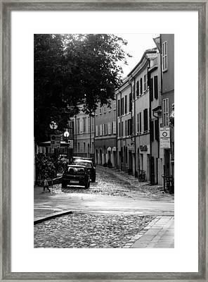 Streets Of Cesena 12 Framed Print