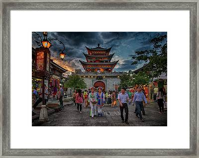 Framed Print featuring the photograph Streets Of Dali by Wade Aiken