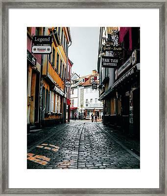 Streets Of Frankfurt Am Main 🙌☀️ Framed Print
