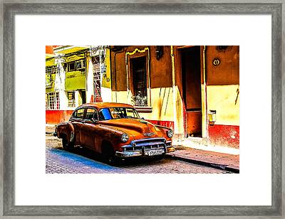 Streets Of Havana Framed Print