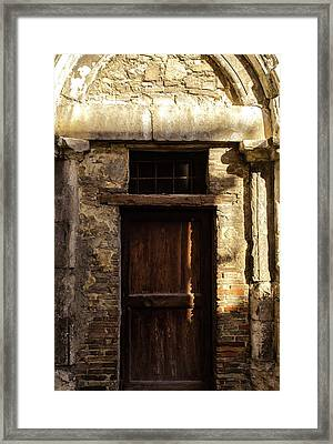 Streets Of Italy - An Ancient Door Framed Print