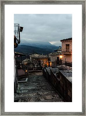 Streets Of Italy - Caramanico 3 Framed Print