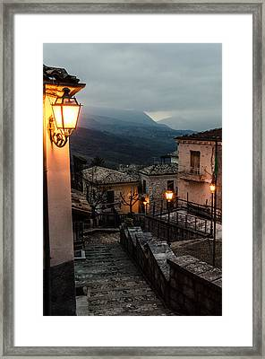 Streets Of Italy - Caramanico Framed Print