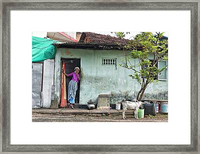 Framed Print featuring the photograph Streets Of Kochi by Marion Galt