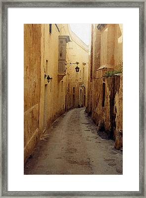 Framed Print featuring the photograph Streets Of Malta by Debbie Karnes