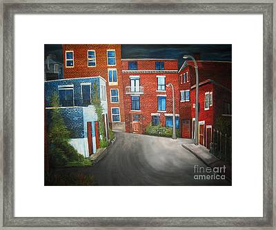 Streets Of Montreal  Joly Framed Print by Reb Frost