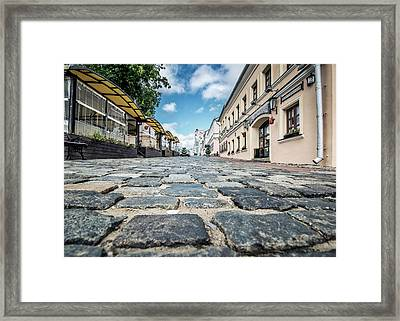 Streets Of Old Town Framed Print
