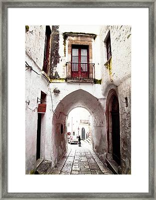 Streets Of Ostuni Framed Print
