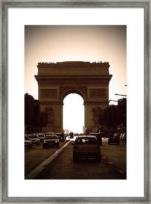 Streets Of Paris Framed Print by Kamil Swiatek