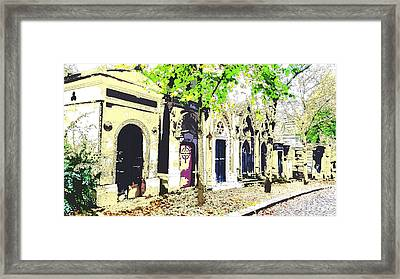 streets of Pere La Chaise cemetary Framed Print