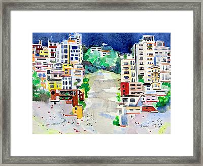 Streets Of San Francsico Framed Print by Mindy Newman